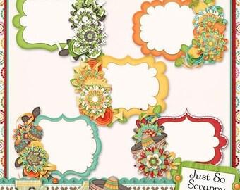 On Sale 50% Off Fiesta Cluster Journal Cards for Digital Scrapbooking
