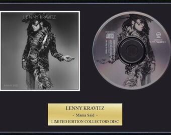Lenny Kravitz - Framed CD Presentation Disc Display