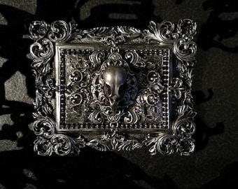 Macabre Mini Wall Art Bird Skull Frame
