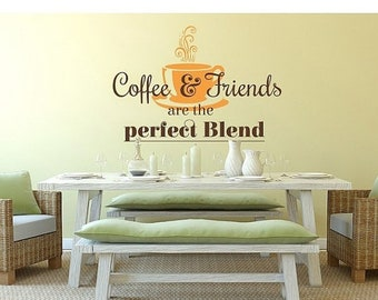 20% OFF Memorial Day Sale Coffee and Friends wall decal, sticker, mural, vinyl wall art