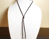 Lariat Necklace, Brown Ch...