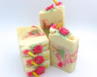 The Christmas Unicorn artisan soap