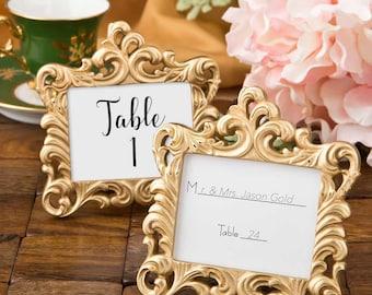 Place Card Holder in Gold - Set of 5 Frames