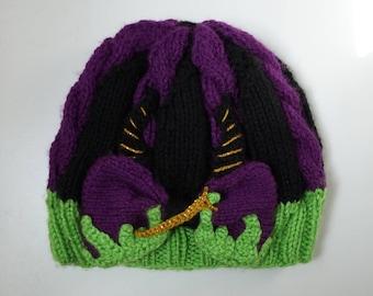 Mistress of All Evil -  Knit Hat or Headband