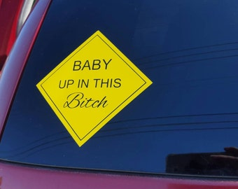 Baby up in this decal