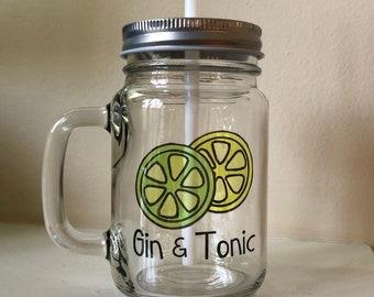 Mason Jar Gin and Tonic Glasses