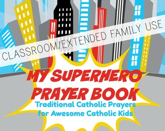 My Superhero Prayer Book CLASSROOM/EXTENDED FAMILY use *digital download*