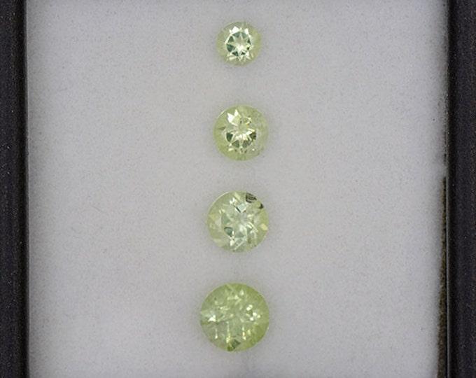 Beautiful Bright Green Amblygonite Gemstone Set from Brazil 1.20 tcw.