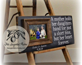 Good Wedding Gifts for Mother of the Bride, Wedding Gift For Mom, Personalized Picture Frame, 8x20 The Sugared Plums Frames