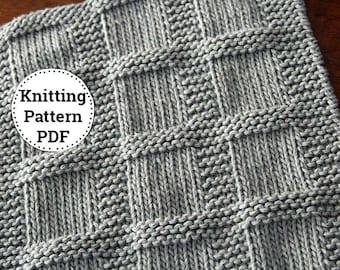 Knitting Pattern | Dishcloth Pattern | Washcloth Pattern | Knitted Dishcloth | Bridgette