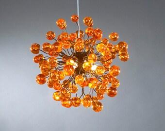 Orange bubbles Hanging lamp, for Dining Room , bedroom or children room. hanging chandelier