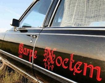 Carpe Noctem (Seize the Night) Vampire inspired/Vinyl Wall Art-CHOOSE Any Color
