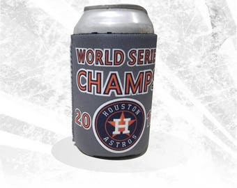 Houston Astros Champs Can Cooler, Astros World Series Champions Can Holder, Astros Beer Holder, Co-worker gift, Stocking Stuffer
