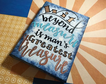 """Clearance - """"Wit Beyond Measure"""" - Painted Canvas Inspired by Harry Potter"""