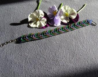 Chevron Handmade Beaded Bracelet for 6-8 inch wrist