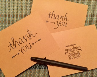 thank you | brush lettering | card