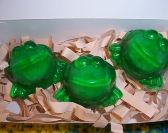 Kids Soap - EXPLODING Frog Soaps by Howard's Home(tm) Gift Boxed Set of 3 with product gift tag -- kids bath - Harry Potter fans - wizards