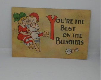 Spring Sale Vintage Baseball Your The Best on the Bleachers Postcard