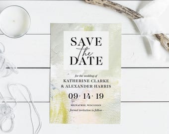 Floral, Oil-Painted - Save the Date, Printable