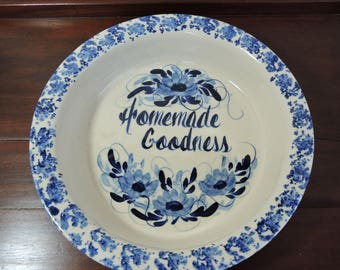Marshall Texas Stoneware Deep Dish Pie Plate Round Baking Dish Casserole Veggie Bowl Yesteryear Homemade Goodness