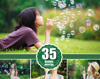 35 soap air bubble photo Overlays, Photoshop Overlay, Photo Prop, realistic nature bubble Photo effect, png file
