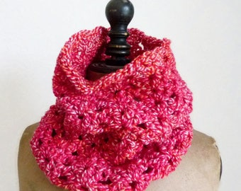 Crochet circle scarf infinity scarf crochet tube scarf shell stitch cowl circle tube neckwarmer infinity loop scarf shell stitch scarf
