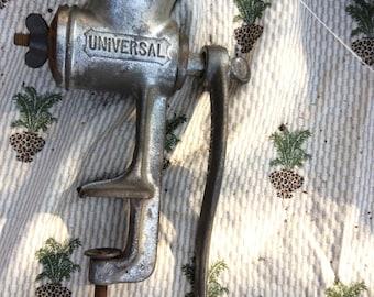 Vintage meat grinder, Universal  metal made in the U.S.A. Meat grinder number 2.