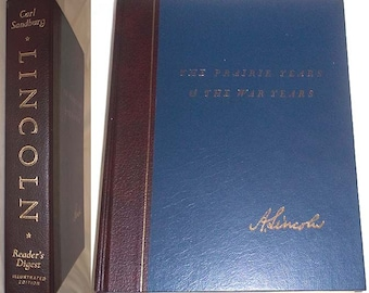 Vintage 1970 Book ABRAHAM LINCOLN The Prairie Years and the War Years by Carl Sandburg - Reader's Digest Illustrated Edition