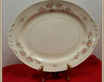 "Homer Laughlin Eggshell Georgian Countess 13 1/2"" Serving Platter"