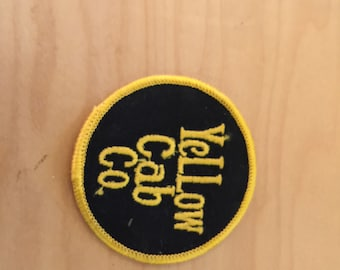 vintage yellow cab co patch, new old stock, 1970's