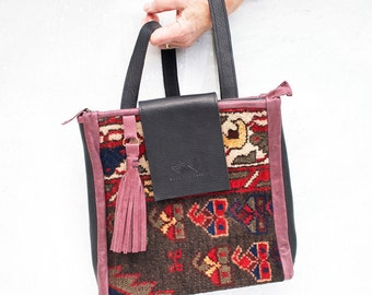 The Mia Carpet and Leather Backpack