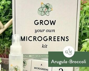 Grow Your Own Microgreens Kit- Arugula & Broccoli