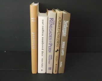 Shades of  Beige, Brown and Rust Decorative Books Decorations -  Book Decorations - Home Decoration - 5 books Decorative Books