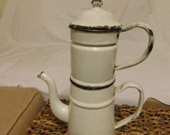 1920-1930 French Enamelware Coffee Bigin