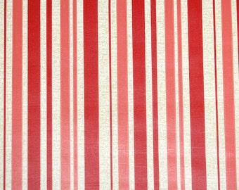 Retro Wallpaper by the Yard 70s Vintage Wallpaper - 1970s Pink and White Stripe