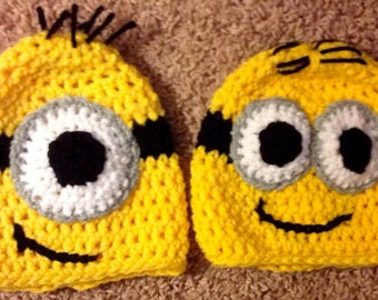 Minion Hat ( infants) ages 0-3 month,3-6 months, 6-9 month, 9-12 month