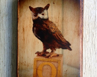Vintage Toy  O is for Owl Art/Photo - Wall Art 4x6