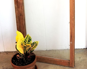 Old Wood Window Frame, Vintage Salvaged Architectural Farmhouse Unfinished Wooden Sash Style One Pane 36 x 20 Wedding Decor itsyourcountry