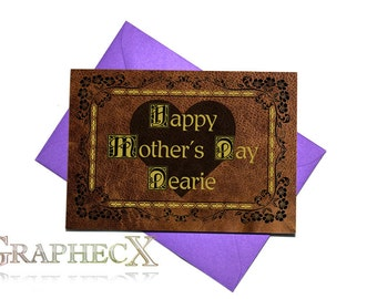 Fan-made Once Upon A Time inspired Mother's day Father's day card