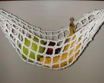 Banana Hammock, Fruit Hanger, Holder, Net, Cream