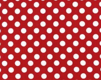 Robert Kaufman Spot On in Red and White, yard