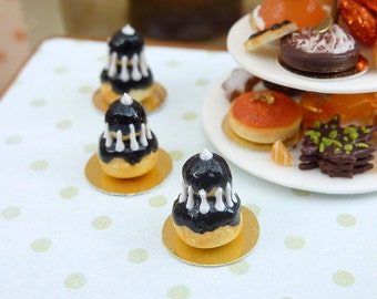 MTO-Black Religieuse - 12th Scale French Miniature Food