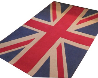 Union Jack 100% New Zealand Wool Rug - 120x170 cm