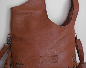 Leather bag camel color, Leather Tote Bag, Large, CarryAll, Shoulder Bag, Shopping Bag, Handbag, Cross body bag