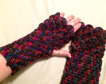 Dragon Gloves - Dragon Scale Gloves - Dragon Fingerless Gloves - Dragon Scale Fingerless Gloves - Dragon Cosplay Gloves - Dragon Gauntlets