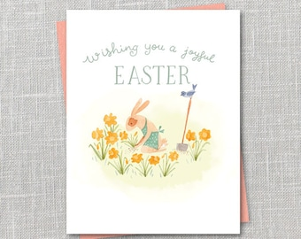 Easter Gardening Notecard Instant Download PDF