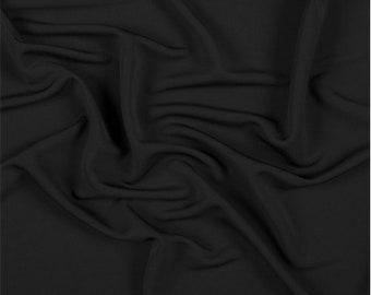 Black Matte Jersey, Fabric By The Yard