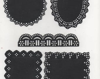 199 - Set of 5 cut outs for your cards or scrapbooking