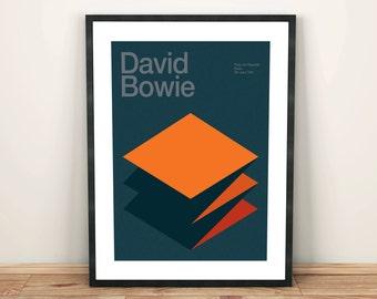 David Bowie Remixed Gig Poster, Art Print, Music Poster