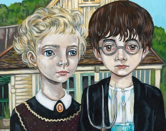 Poster tribute American Gothic